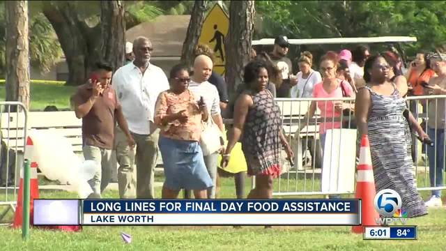 Long lines for final day of food assistance in Lake Worth
