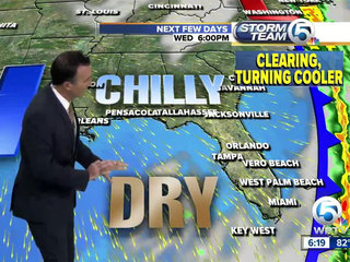 Warm, Breezy through Monday then cold front