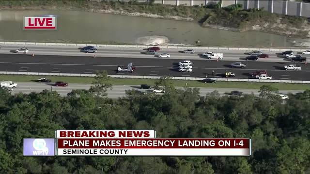 Pilot departs DeLand, lands on I-4 in Seminole County