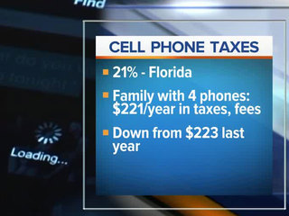 Floridians pay 10th highest wireless tax rate