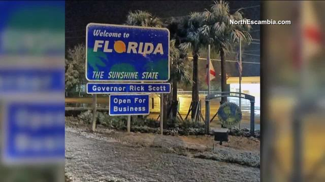 North Florida hit with light snow