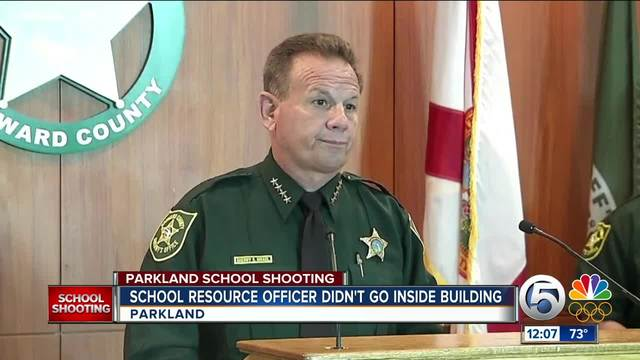 Florida sheriff investigating if deputies remained outside school during shooting