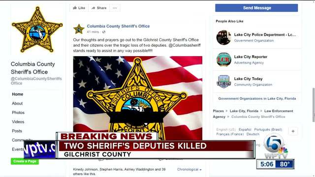 Two Deputies Killed In North Florida Town Of Trenton