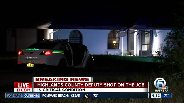 Florida deputy responding to reported dispute shot, critically wounded