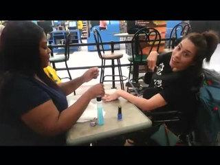 Cashier paints nails after salon denies woman