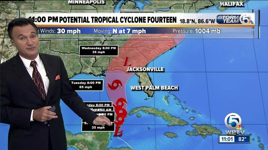 Potential tropical cyclone is forecast to become the next named storm — Michae...