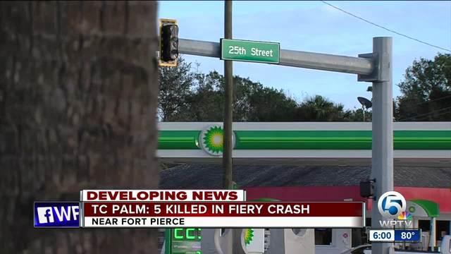Poster Five Dead After Fiery Crash Near Fort Pierce Wptv Com