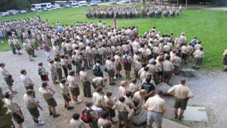 Boy scouts summer camp in North Carolina.