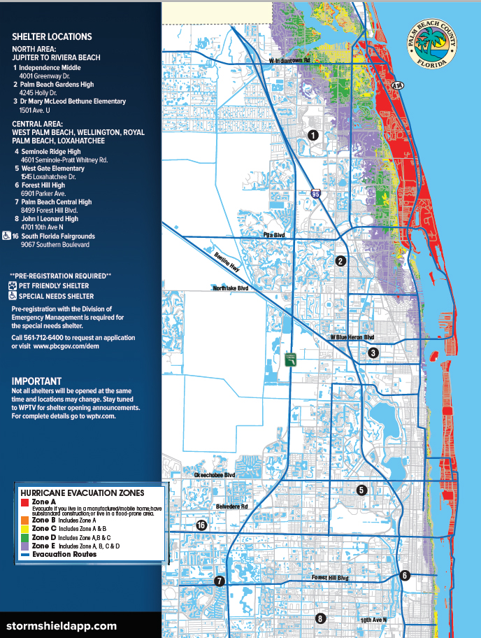 Shelter Locations Throughout South Florida