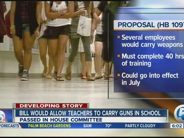 benefits of teachers carrying guns in school