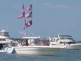Law enforcement patrol waters on Memorial Day