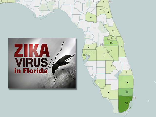 zika in florida map
