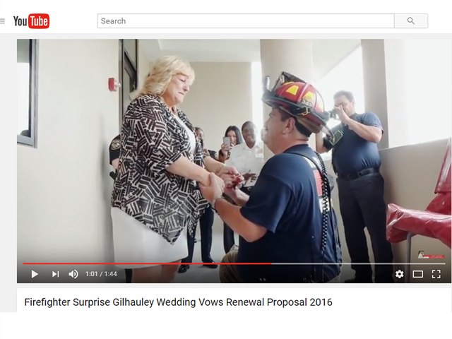 South Florida Firefighter Surprises Wife With Wedding Vows Renewal