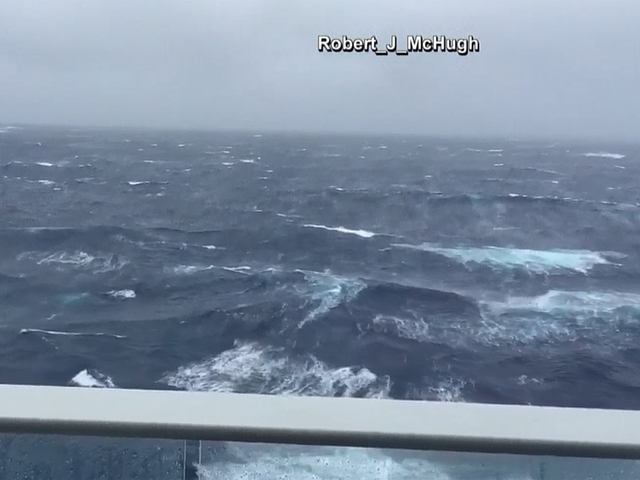 VIDEO Hermine Creates Rough Seas For Cruise Ships Wptvcom - Cruise ship in rough waters