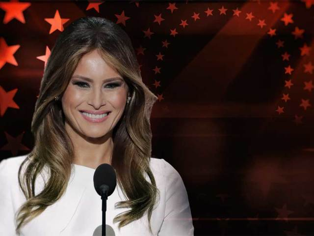 Melania Trump 'flies back after dodging Donald'
