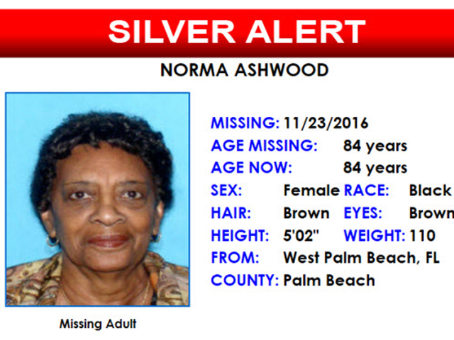 Silver Alert issued for 84-year-old suburban West Palm ...