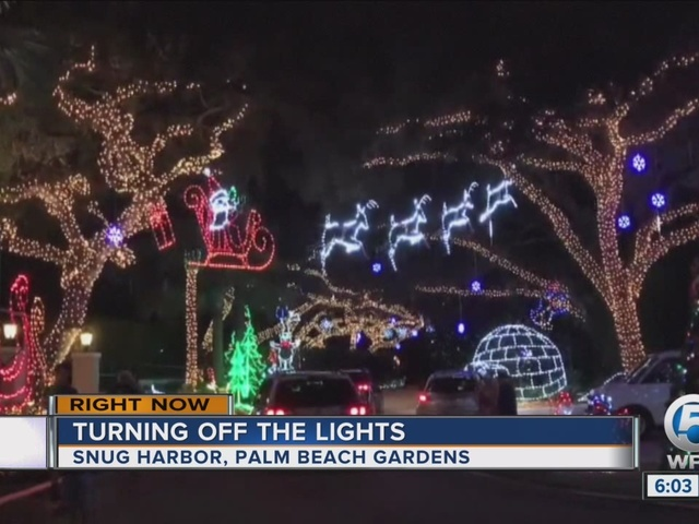 Last Year For Snug Harbor Christmas Lights Wptv Com