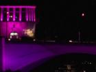 Royal Park Bridge turning pink