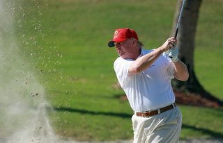 Trump playing golf with Graham, talking tax cuts