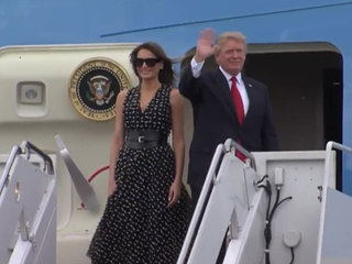President Trump, Melania in PBC for the weekend