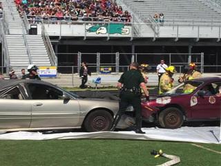 Students simulate DUI crash in Jensen Beach