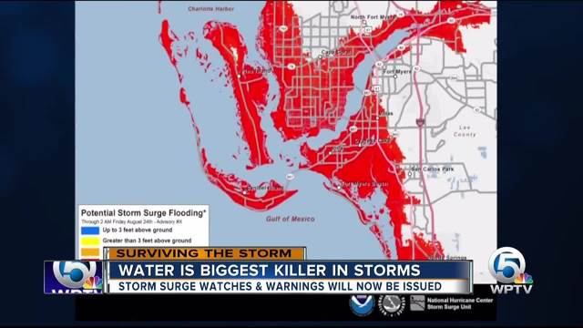 Storm surge is the biggest killer in hurricanes