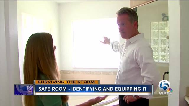 Identify your safe room for a hurricane
