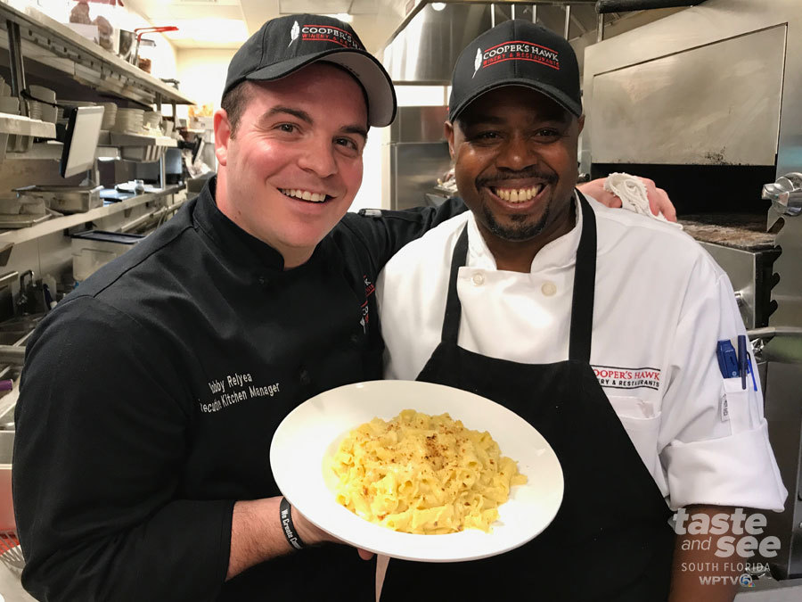 National Mac And Cheese Day Is July 14. We Went To The Cooperu0027s Hawk At The  Gardens Mall To Have Executive Chef Bobby Relyea To Show Us How To Make A  KILLER ...