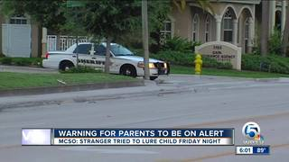 MCSO warns about a 2nd suspcious stranger