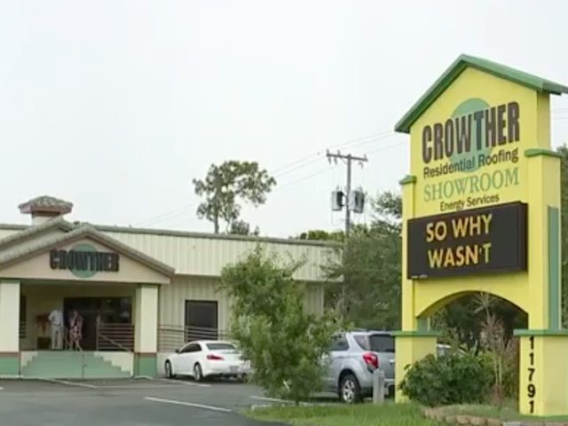 An Electronic Sign Outside Of Crowther Residential Roofing In Fort Myers  Has People Talking.
