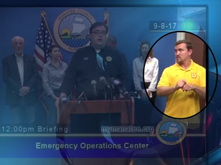 Signing gibberish prompts storm briefings bill