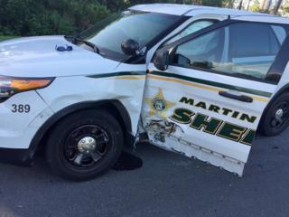 Martin Co. deputies injured when cruiser rammed