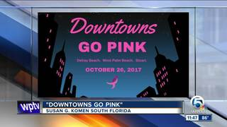 Downtowns Go Pink in Palm Beach Co. on Oct. 26