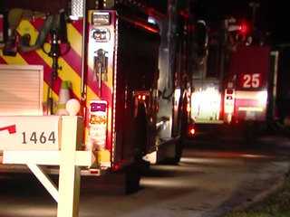 Crews respond to house fire in Wellington