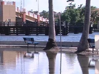 High tides impact Delray Beach, Lantana