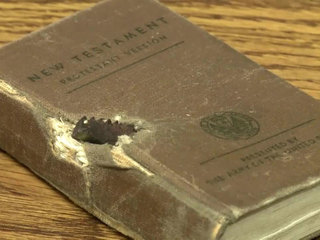WWII veteran saved from shrapnel by pocket bible