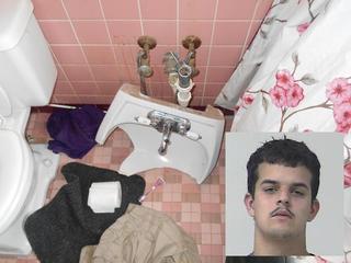 PHOTOS: Man accused of trashing motel room