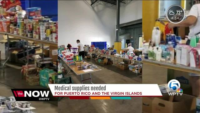 Medical supplies needed for Puerto Rico and the Virgin Islands