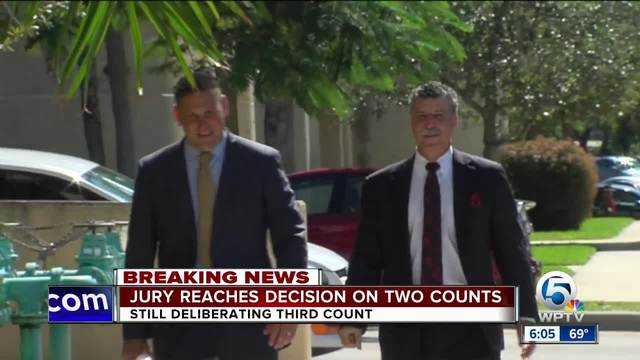 Jury reaches decision on two counts