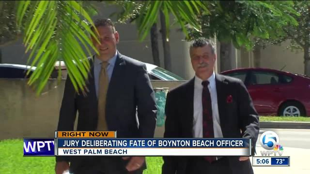 Jury deliberating fate of Boynton Beach officer