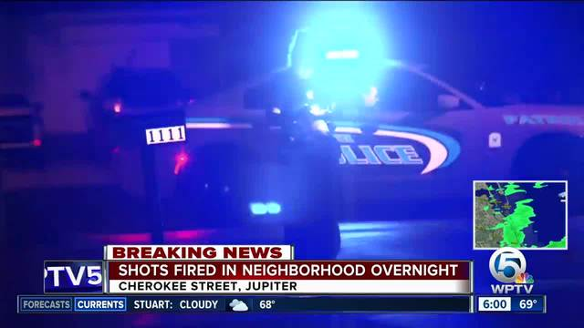 Shots fired in Jupiter neighborhood
