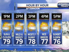 Drier air with mostly sunny skies