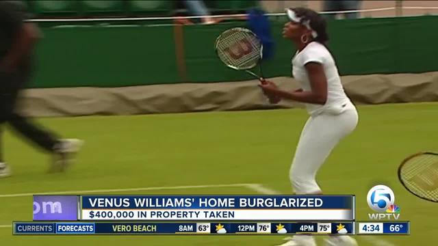 -400K in property stolen from Venus Williams- Palm Beach Gardens home