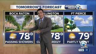 Cool front comes through tonight, turning breezy