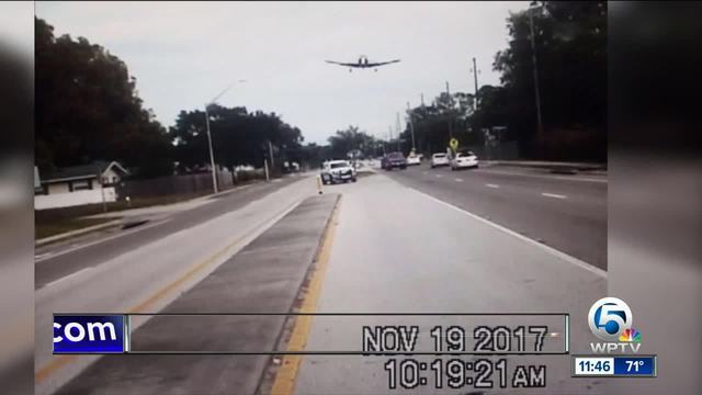 Dramatic dashcam VIDEO captures plane crashing on Florida highway