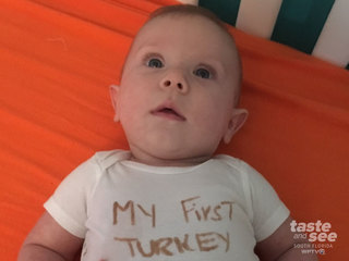 Baby's First Thanksgiving onesie idea