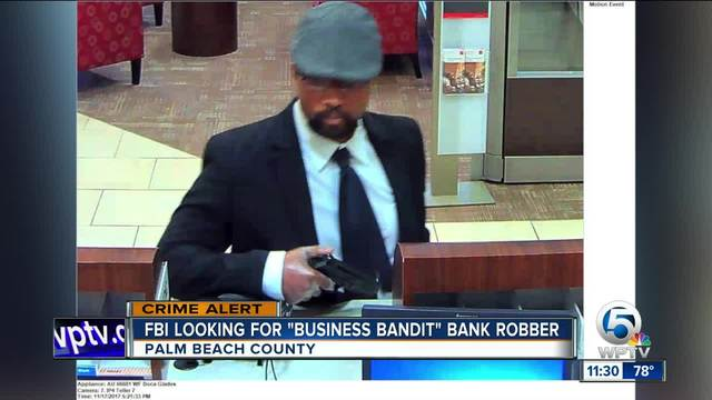 Business Bandit Sought In Palm Beach County Bank