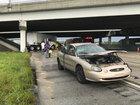 Semi crash hampers I-95 SB in West Palm
