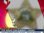 Tonight at 5: Top areas for robbery crimes