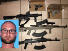 Assault rifles, ammo confiscated from felon